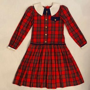 {VTG} Sylvia Whyte Plaid Dress Style 6905